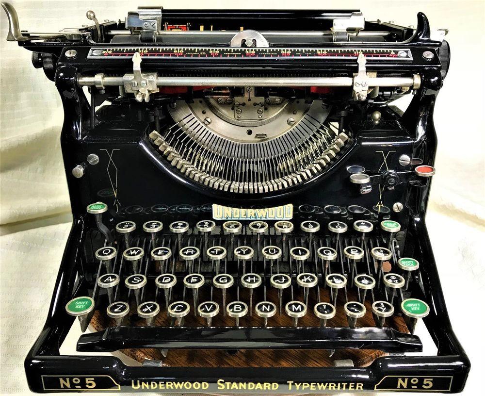 7a530af1f30c1 Vintage~1907 Underwood No5~Typewriter Manual Type Mechanical ...