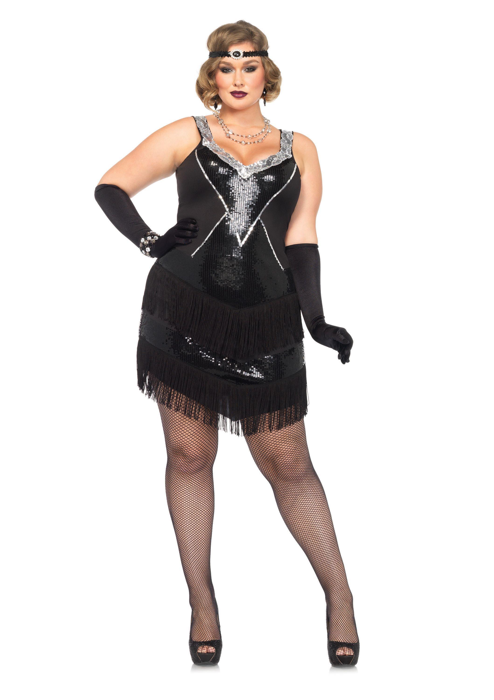 29ca8d236efd7 Leg Avenue Plus-Size 2 Piece Glamour Flapper Costume