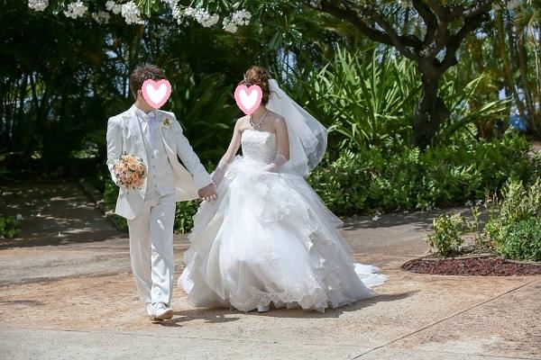 オアフ島 コオリナ チャペル アクア マリーナ で結婚式を挙げました ワタベウェディング 式語 チャペル ウェディング 海外挙式
