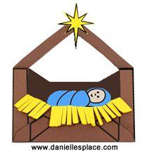 Baby Jesus in a Manger Envelope Craft for Preschool Children