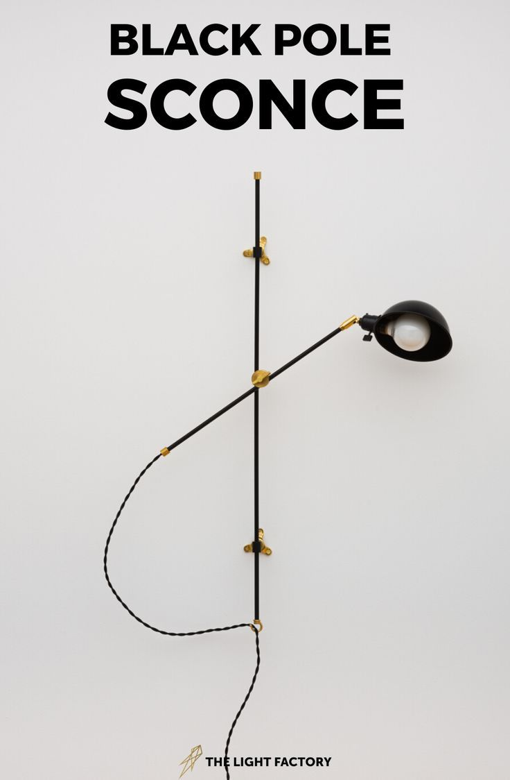 The Black Pole Sconce in 2020 | Bathroom lighting design ...