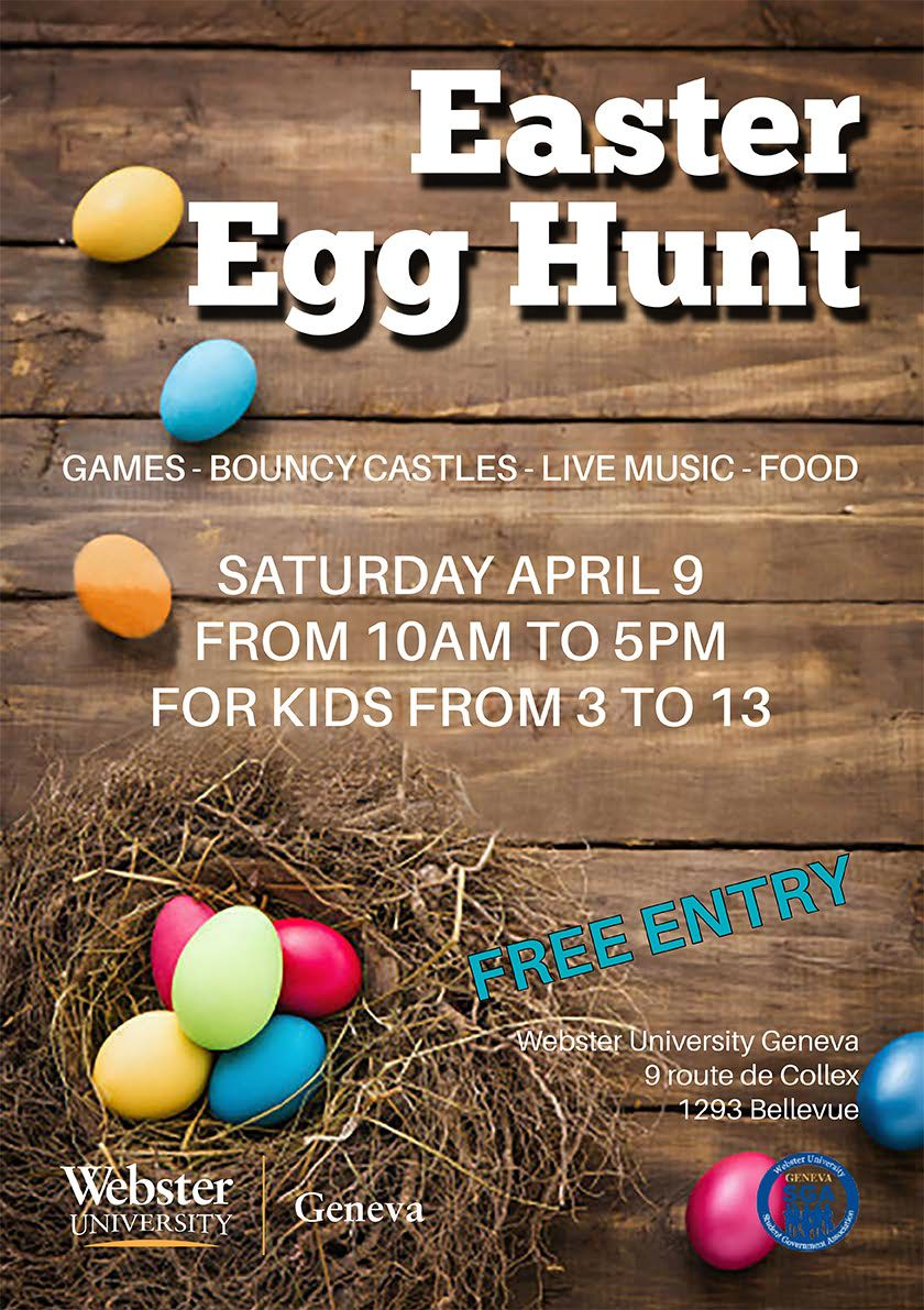 Easter Egg Hunt, Webster University Geneva, 9 April 2016
