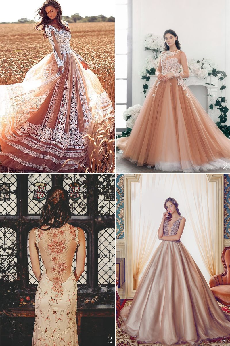 The 7 Major Color Trends for Fall Reception Gowns! (With