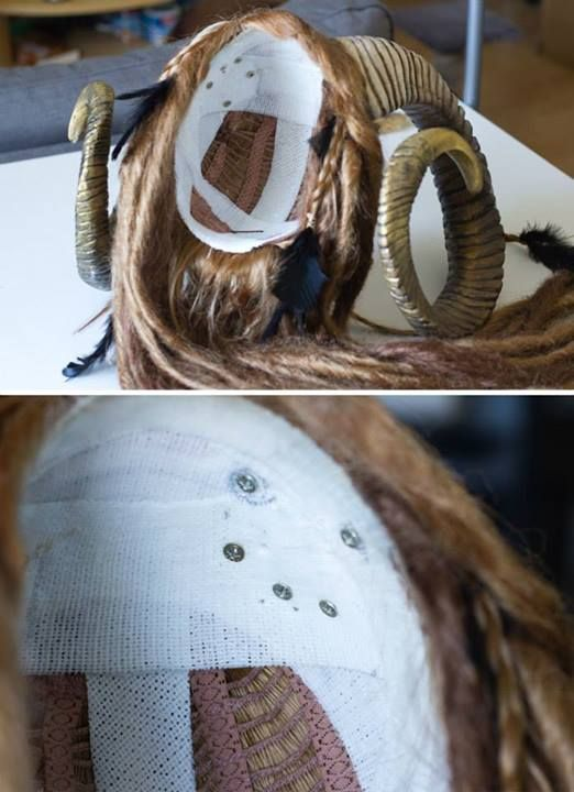 How to anchor big horns to a wig. Might be helpful for my druid stag form  cosplay. By Lightning Cosplay (How To Make Dress Tips) 42e3feca4