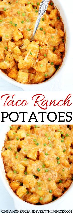 Taco Ranch Potatoes - Creamy, cheesy, dreamy and delicious! The best way to eat potatoes. #potatoes #dinner #sidedish #best #food #recipes #tacosidedishes
