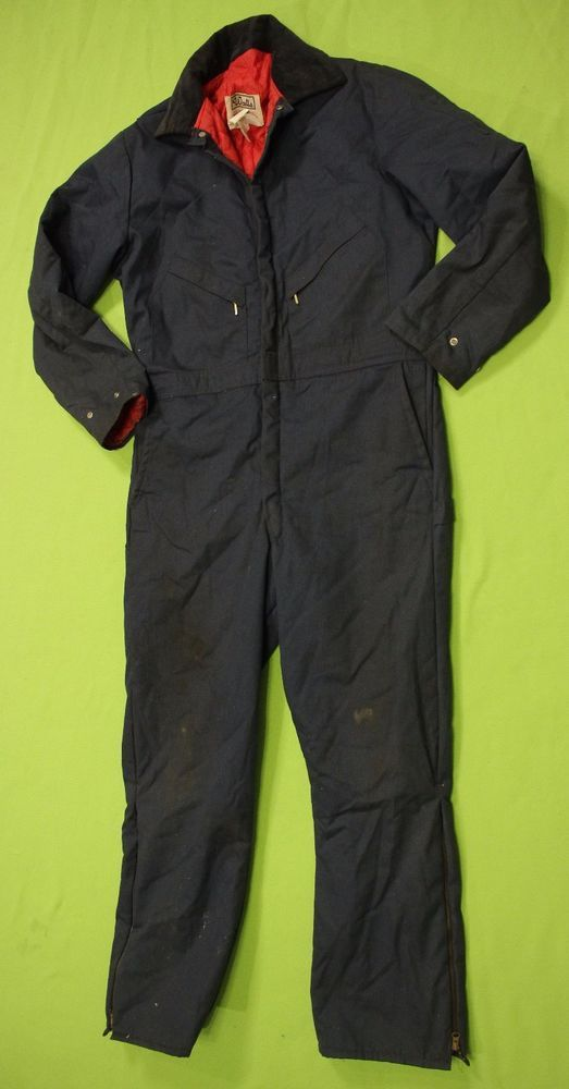 vintage walls coveralls overalls insulated large tall 42 on walls insulated coveralls blizzard pruf id=67105