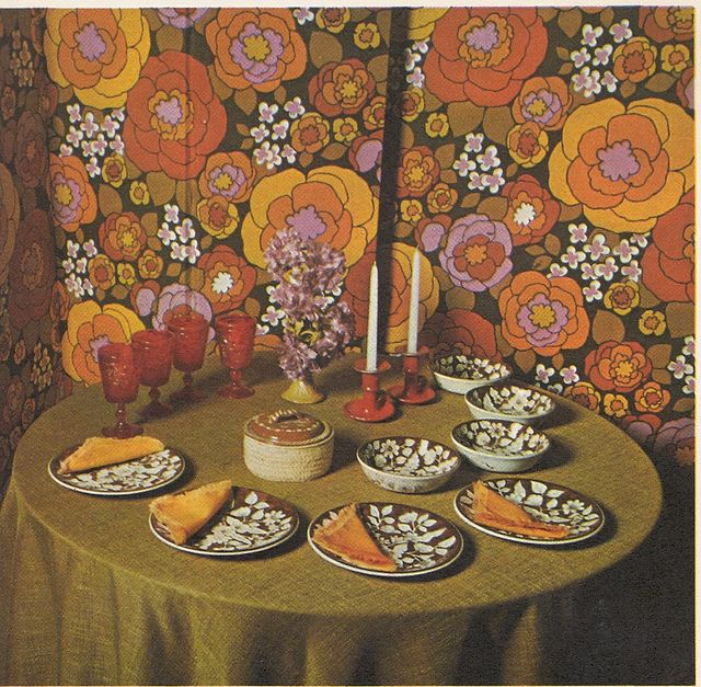 70s dining by babette hayes decorating 1970s and retro for Home decor 1970s