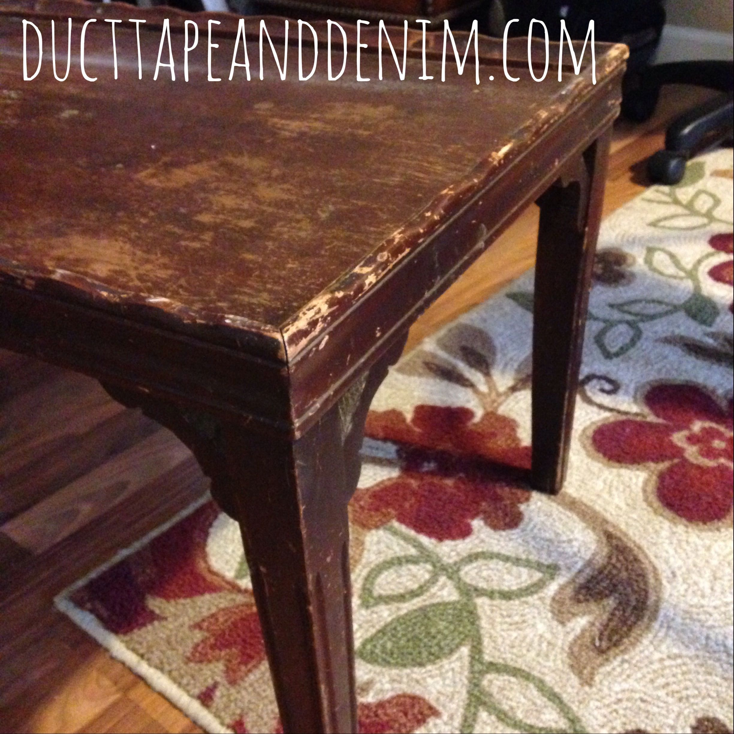Chalkboard Coffee Table Makeover
