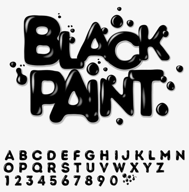 Tinta Preta De Material De Vetor De Desenho De Letra, Tinta