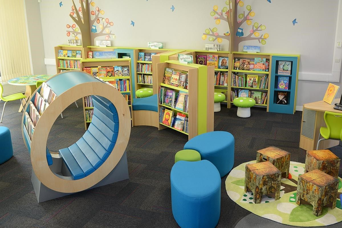 Woodland Themed Primary School Library School Library