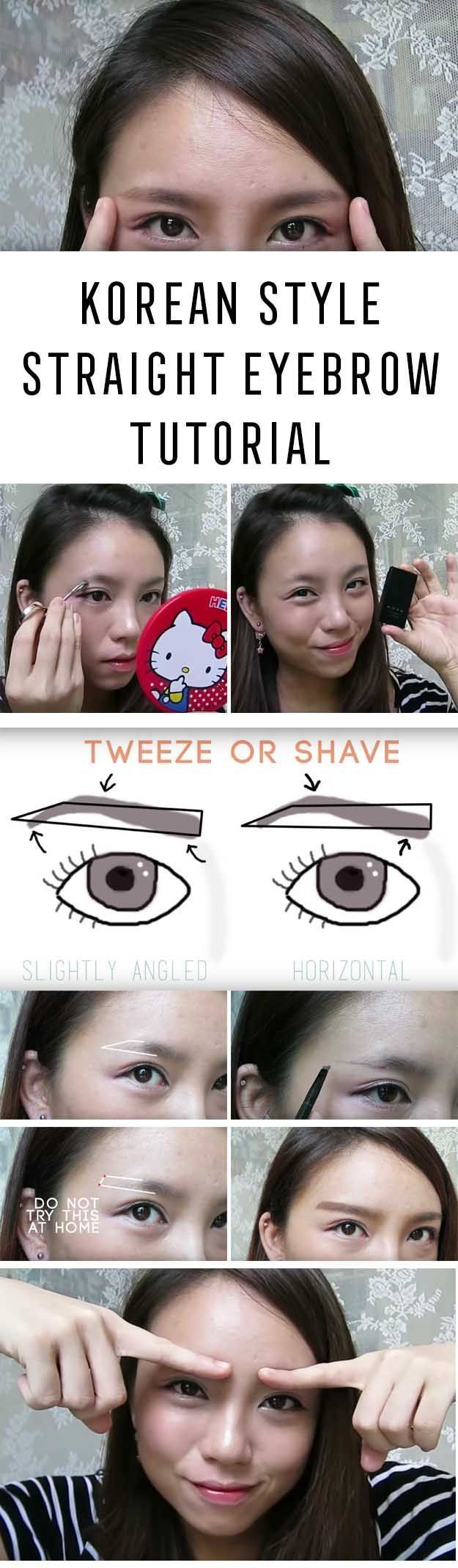 Best korean makeup tutorials how to korean style straight eyebrow best korean makeup tutorials how to korean style straight eyebrow tutorial natural step by step tutorials for ulzzang pony puppy eyes eyeshad baditri Image collections