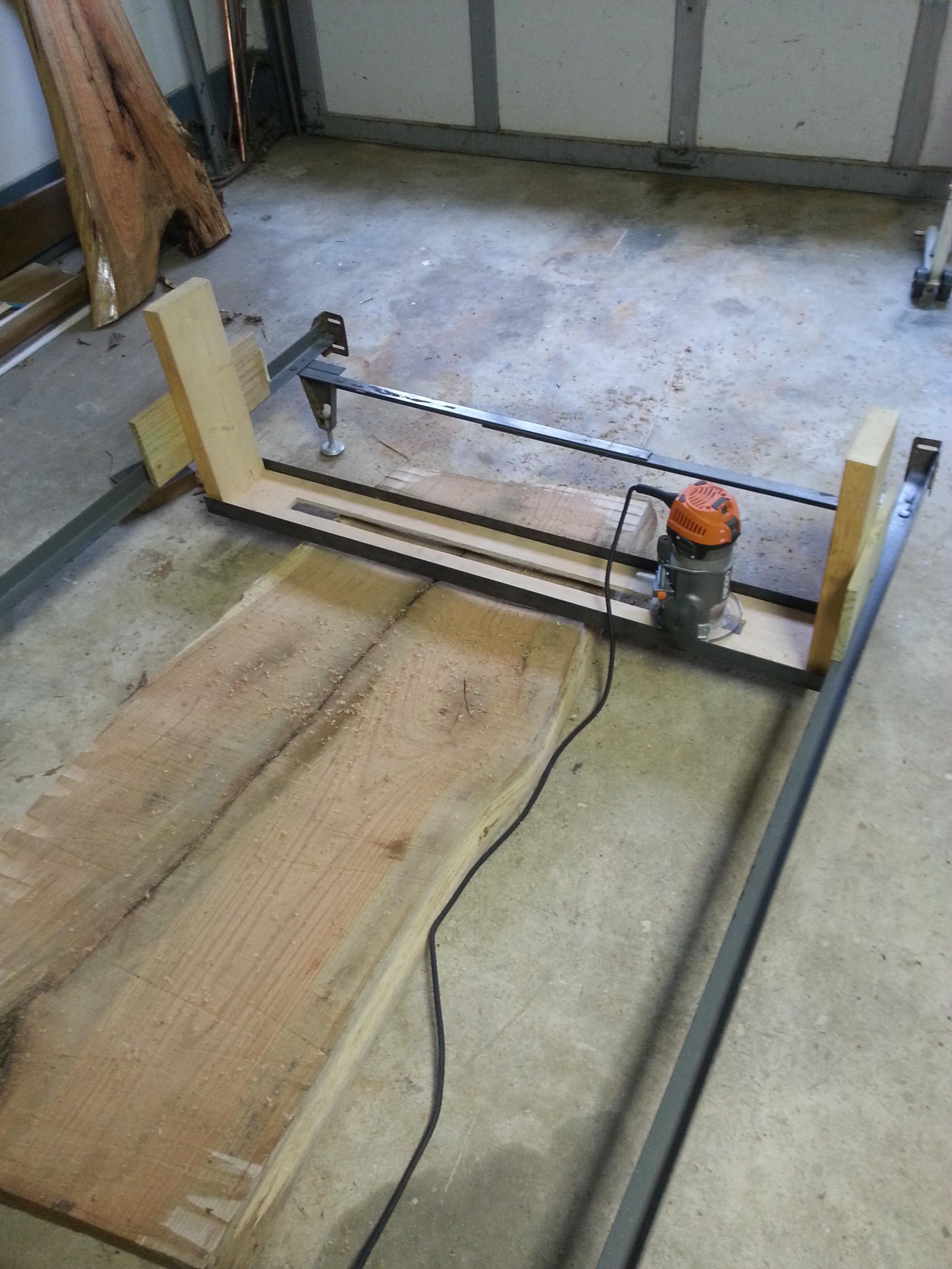 Leveling Jig Using Old Bed Frame Router Woodworking Woodworking