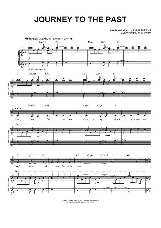 Open Arms - Journey - PDF Free Piano Sheet Music | Learn ...