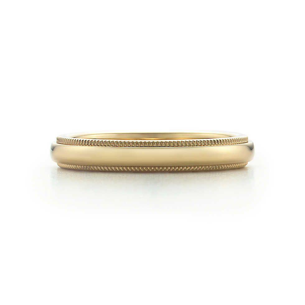 Tiffany Co Platinum 18k Gold 3mm Milgrain Wedding Band: Inspire My Future- Wedding