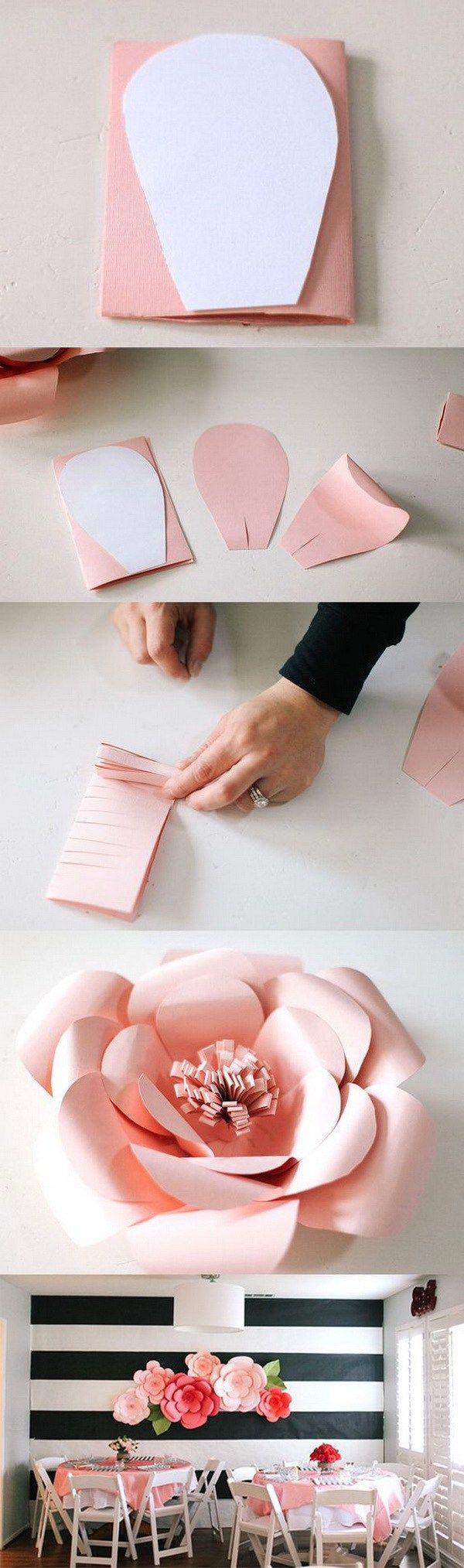 stunning diy wall art ideas u tutorials giant paper flowers