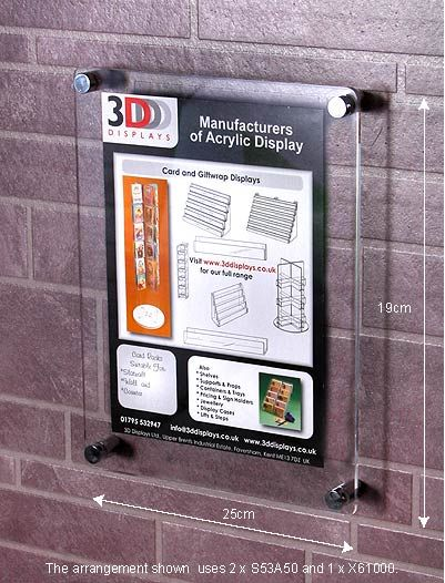 Acrylic Gift Tag Holder Slatwall Display Retail//Shop Stand POS Point of Sale