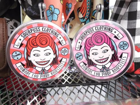 Sourpuss Clothing hair pomade for pin up styles