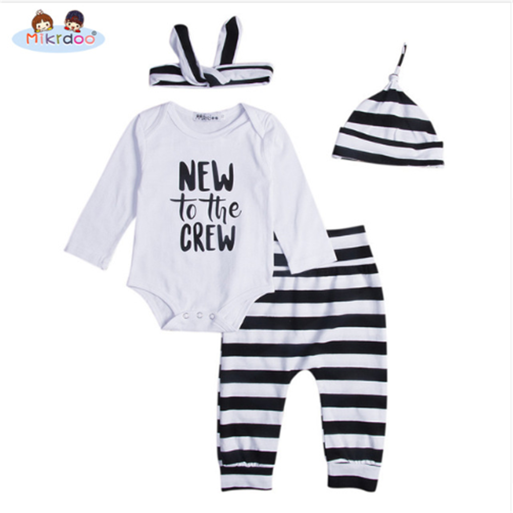 6faad2a1b Baby clothing 2018 Newborn Infant Baby set New To The Crew Long ...