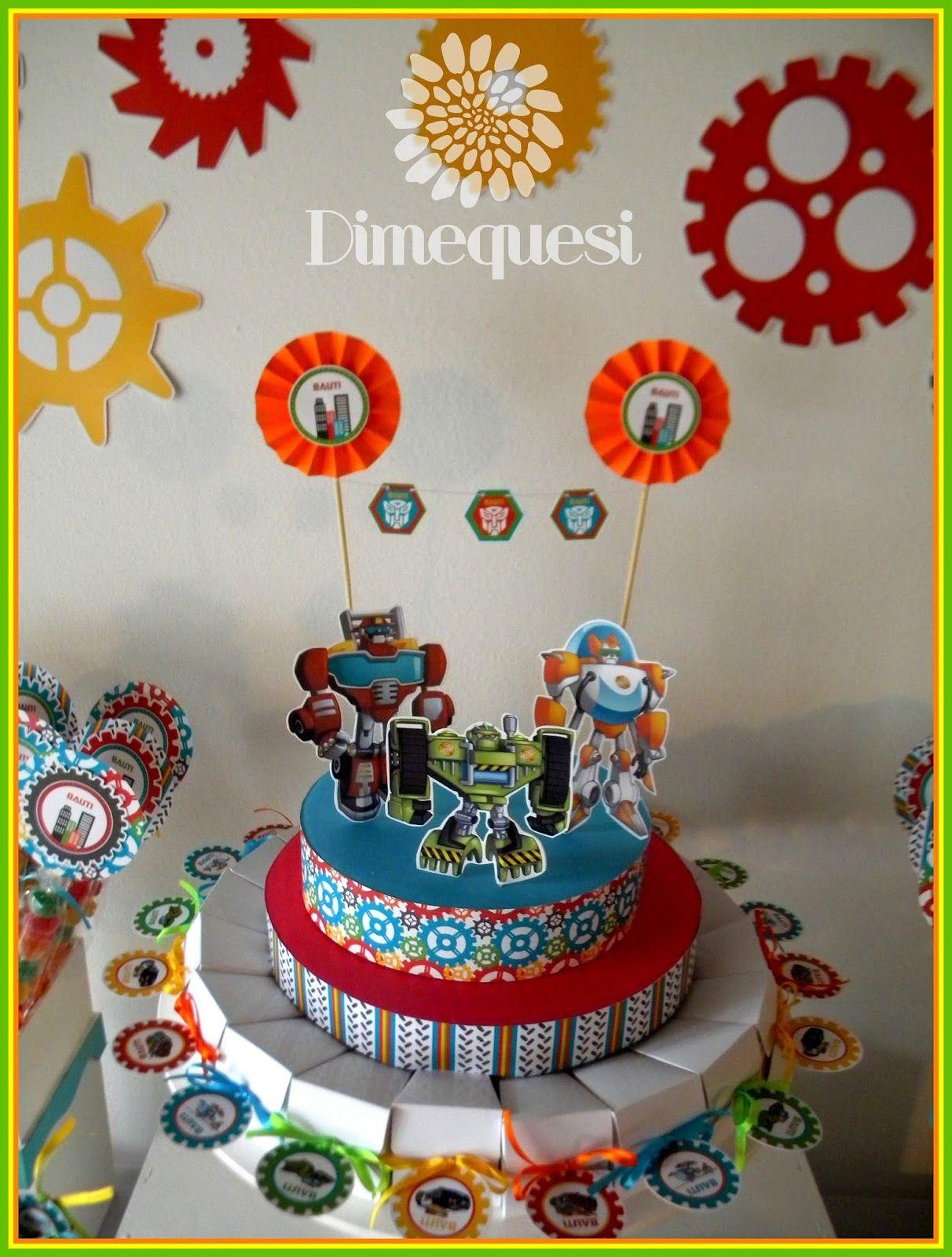 Dimequesi Transformers Rescue Bots 4th Birthday Ideas Rescue