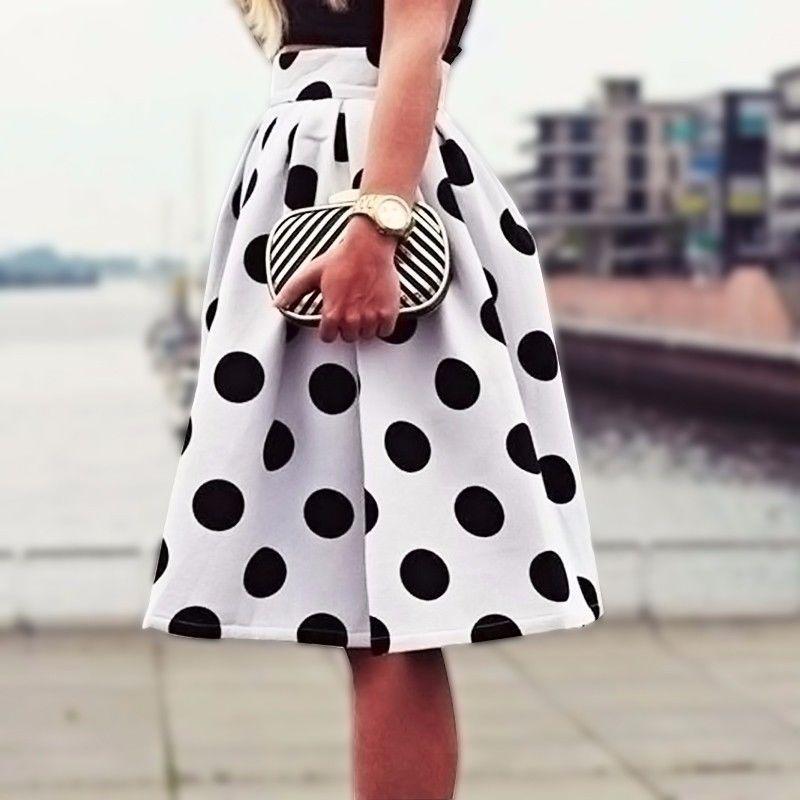 84d85a8e490 Vintage Women Stretch High Waist Short Plain Skater Flared Pleated Mini  Skirt  Unbranded  ALine