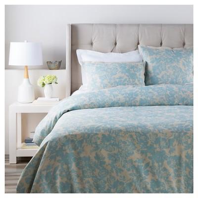 Appenzell Luxury Bedding Duvet (King/King CA) Aqua (Blue) - Surya