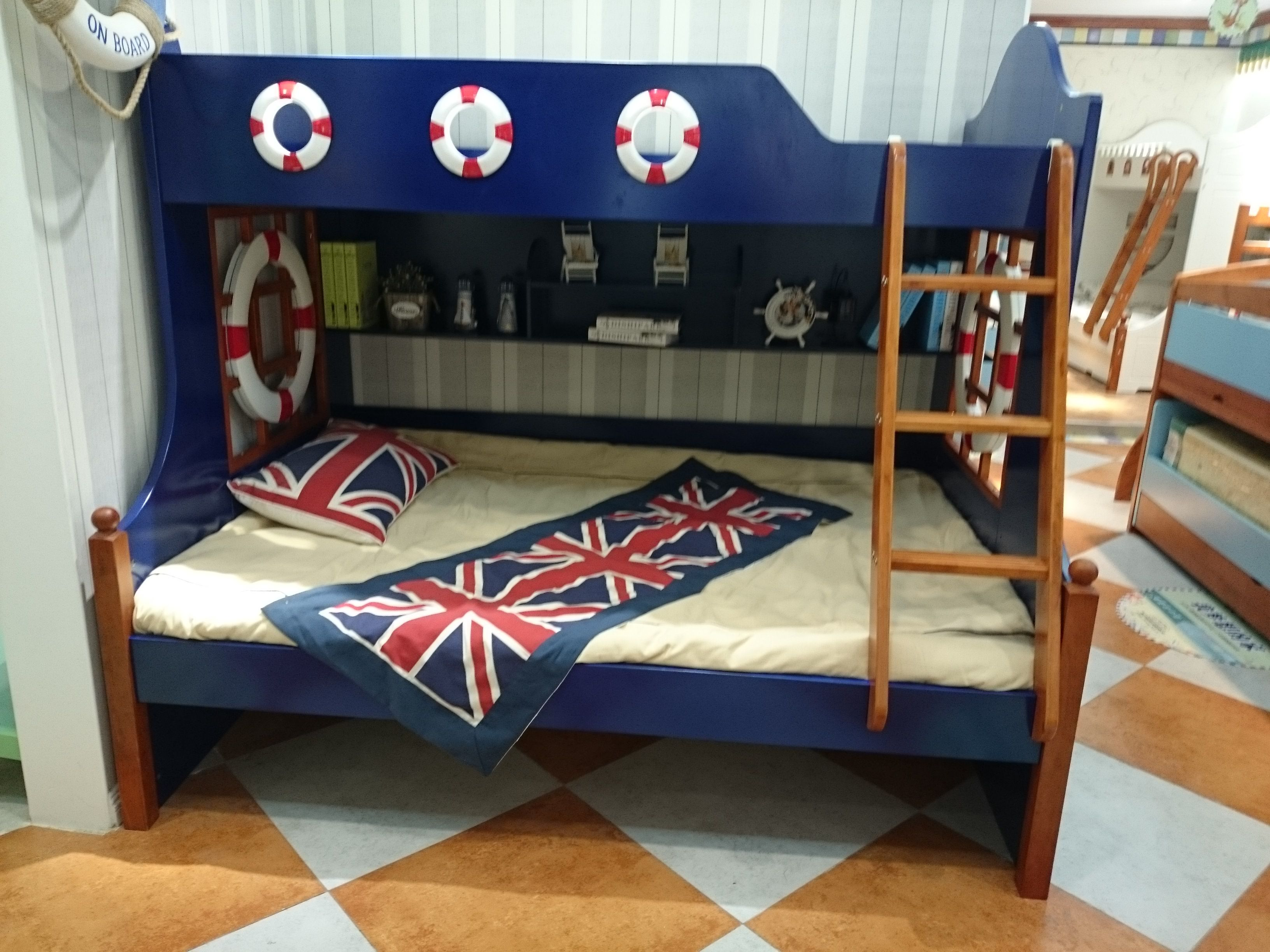 Royal Navy Blue Bunk Bed From Kids Kouch
