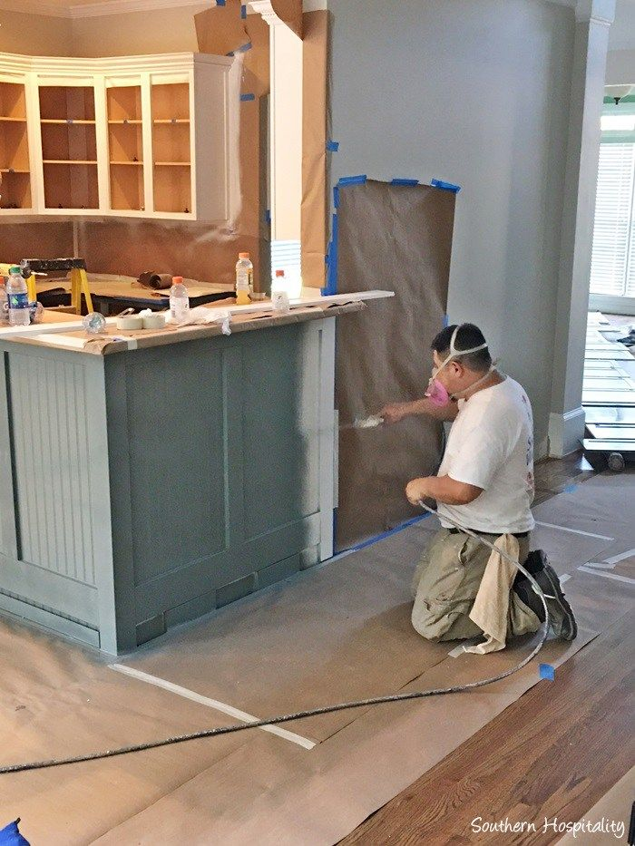 Adding Beadboard to the Bar   Painting kitchen cabinets ...