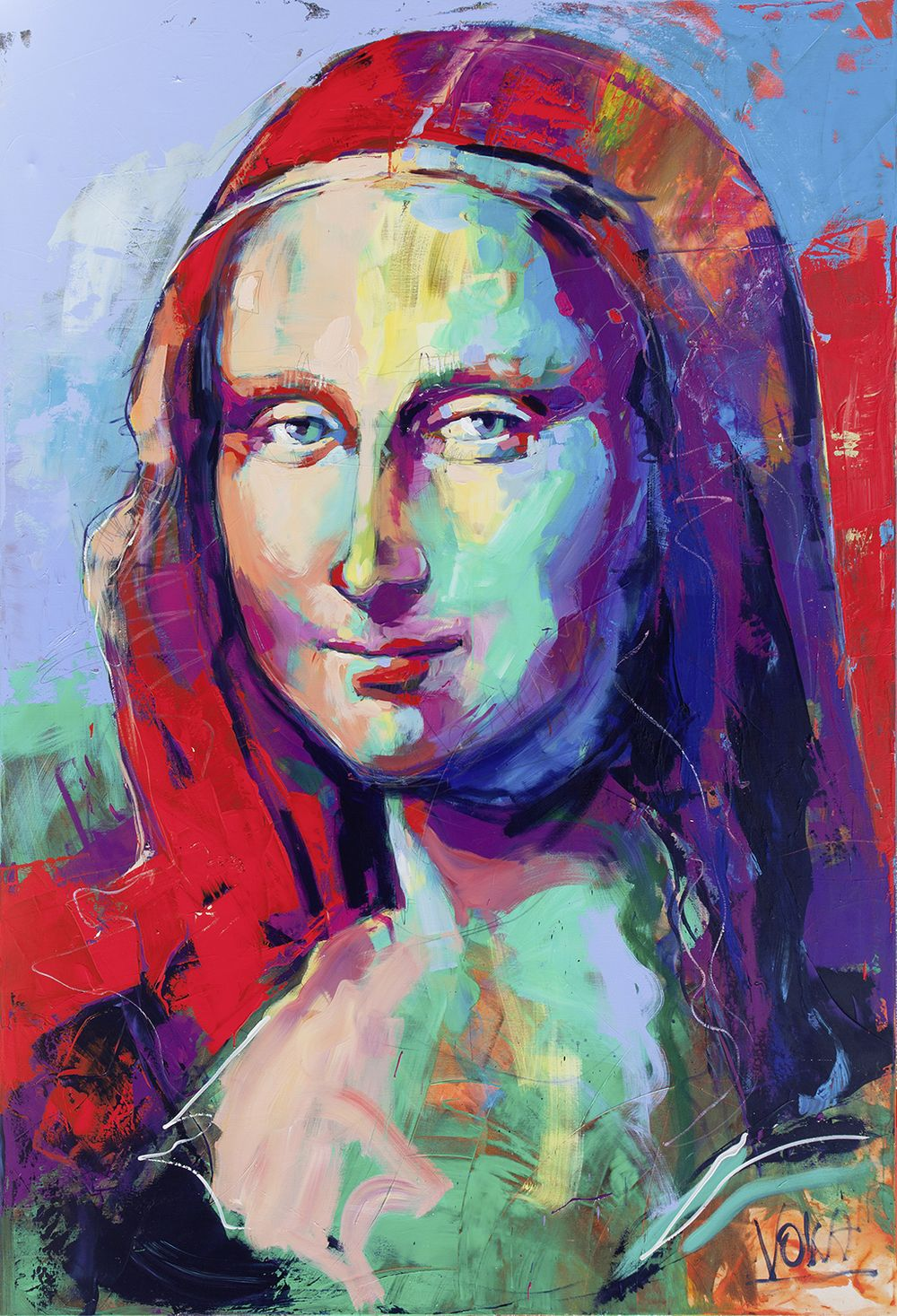 Mona Lisa 280x190 cm 110 24x74 8 inch acrylic on canvas