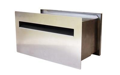 Pin By Kutez On Modern Embedded Mailboxes Drop Box Ideas Modern Mailbox Steel Wall