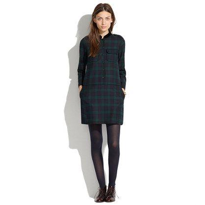 9de3a853296 Black Watch Plaid Tartan Shirt Dress