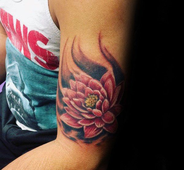 100 Lotus Flower Tattoo Designs For Men - Cool Ink Ideas | Lower arm ...