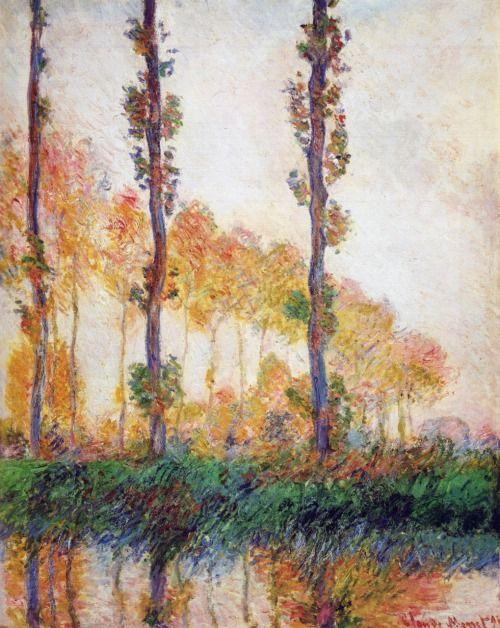 Claude Monet Poplars (Autumn) 1891