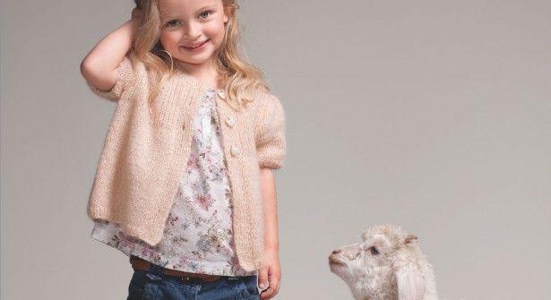 Tricot Un Gilet Pour Les Petites Filles Tricot Kids