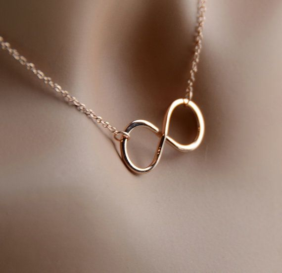 shop attractive necklace tiffany infinity karat rose co gold