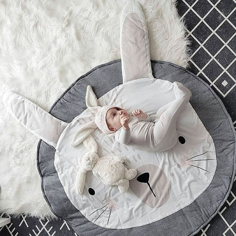 Soft Cotton Leaf Kids Baby Game Gym Activity Play Mat Crawling Blanket