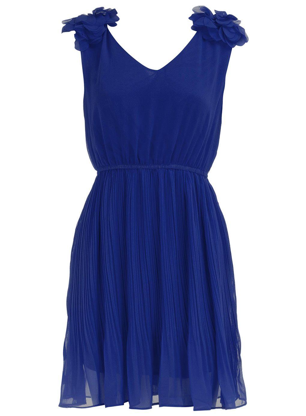Famoso Vestido Azul Cóctel Cobalto Ideas Ornamento Elaboración ...