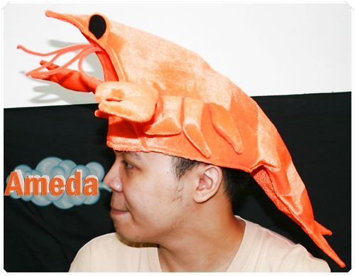 Lobster Seafood Fish Party Costume Adult Kids Hat Mask