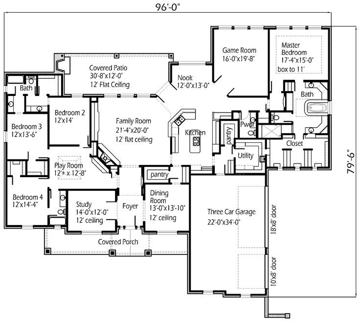 Single Story Plan This Is My Dream Floor Plan But The Game Room Next To
