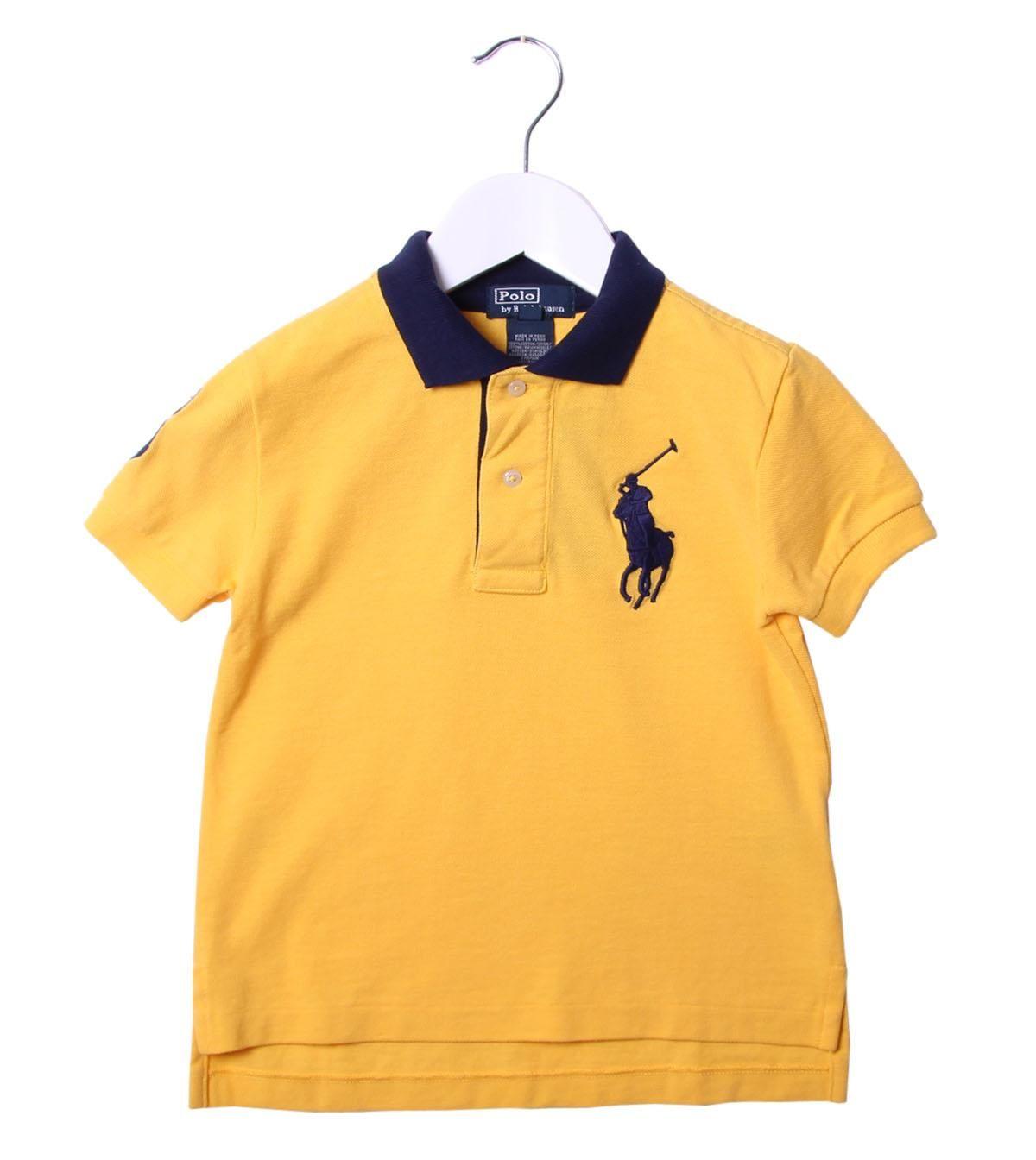 Ralph Lauren Yellow/Navy Collar Polo Shirt