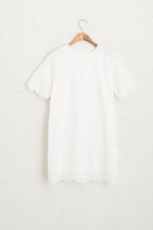 Flower Lace Mini Dress, Ivory