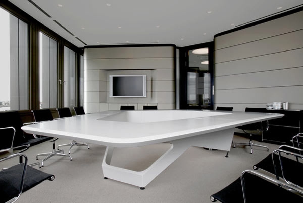 modern office cubicles interior design ideas white table