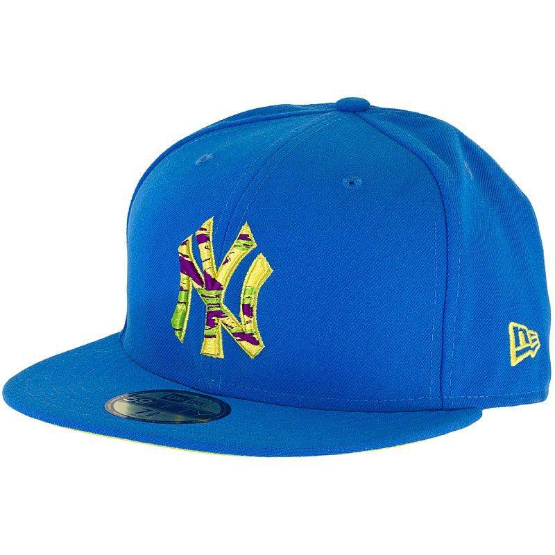 New Era 59fifty Cap Logo Scribble 2 Ny Yankees Blau Gelb Blau Gelb Gelb Blau