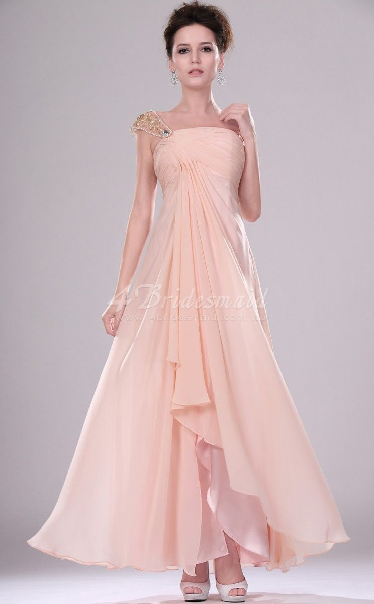 A line one shoulder long pink chiffon bridesmaid dressesbd438 a line one shoulder long pink chiffon bridesmaid dressesbd438 ombrellifo Image collections
