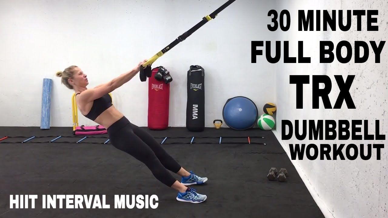 TRX Workout, FULL BODY TRX + Dumbbell HIIT Training, Suspension Trainer  Workout   YouTube