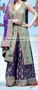 Purple bridal Sharara Designs 2017 #shararadesigns