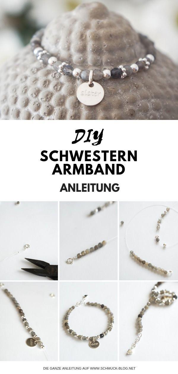 DIY Schwestern Armband basteln | Schmuck Blog Magazin