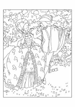 Umberto Brunelleschi Stories From Once Upon A Time Coloring Cards