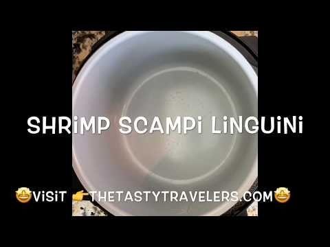 Shrimp Scampi Linguini-Pressure Cooker #shrimpscampi