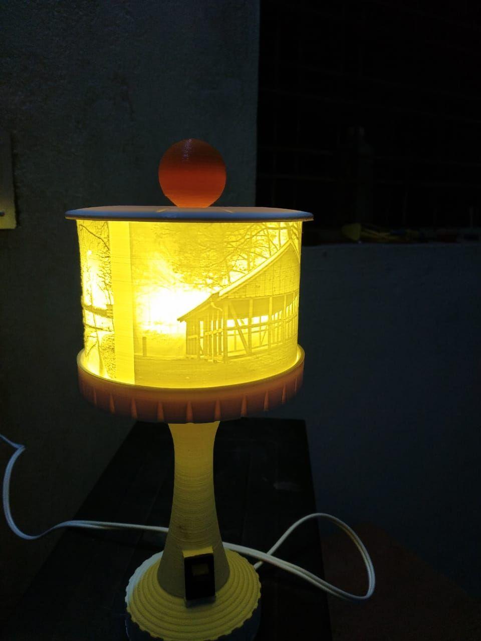 Lithophane Lamp Lamp Paper Lamp Novelty Lamp