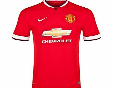 Nike Manchester United Home Shirt 2014/15 611031-624 Manchester United Home Shirt 2014/15The red Nike 2014/15 Manchester United Home Shirt pays homage to the Red Devils with MUFC tradition in every detail for ultimate club pride.The breathable, sweat- http://www.comparestoreprices.co.uk/sportswear/nike-manchester-united-home-shirt-2014-15-611031-624.asp